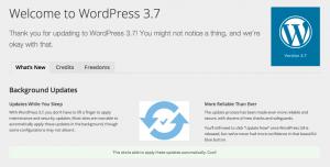 WordPress 3.7 disponible la próxima semana