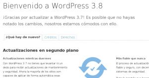 Problemas tras actualizar a WordPress 3.7