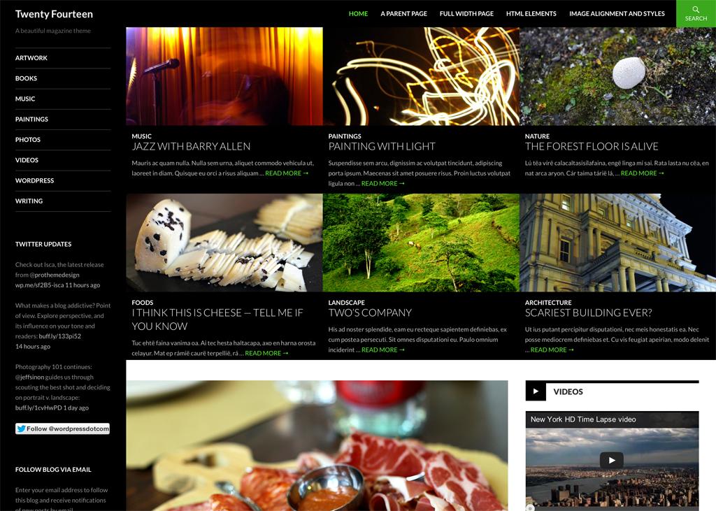 Twenty Fourteen nuevo tema de WordPress 3.8 - Vozidea.com