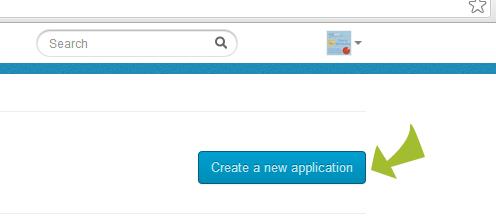 Crear nueva aplicación en Twitter