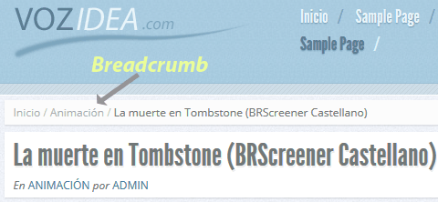 Implementar breadcrumbs en WordPress