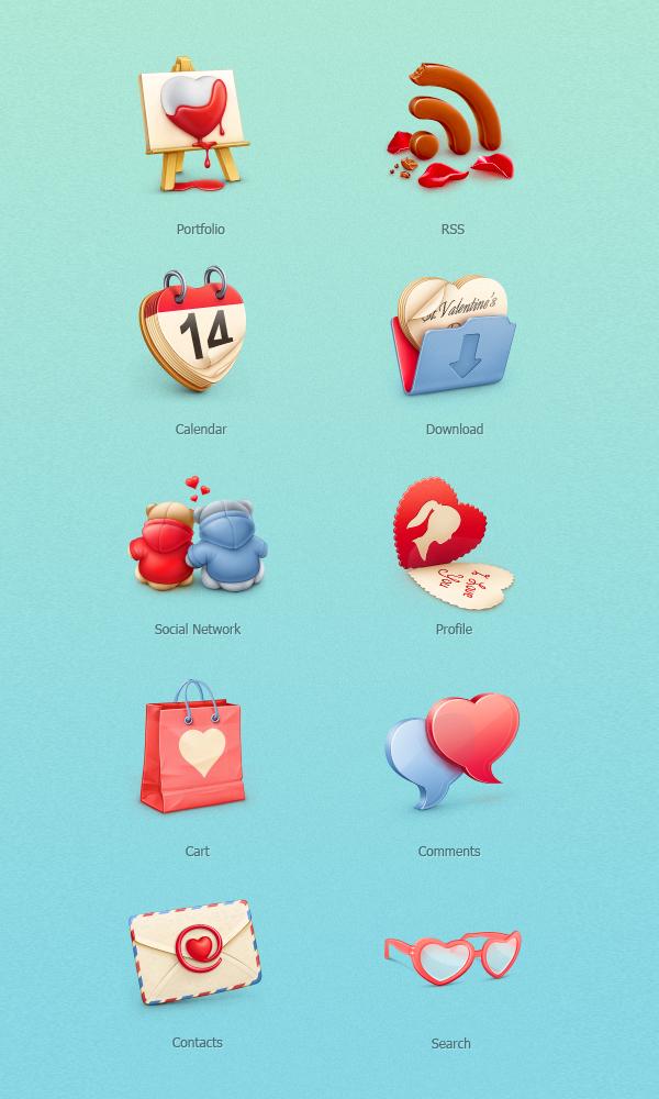 Recursos gráficos para el día de San Valentín