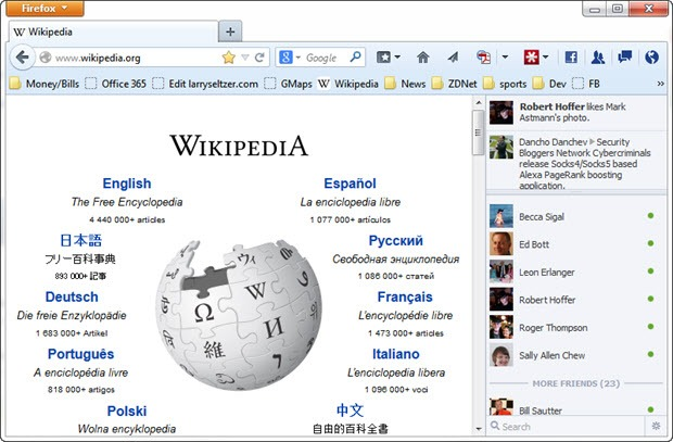 Disponible FireFox 27 con SocialAPI