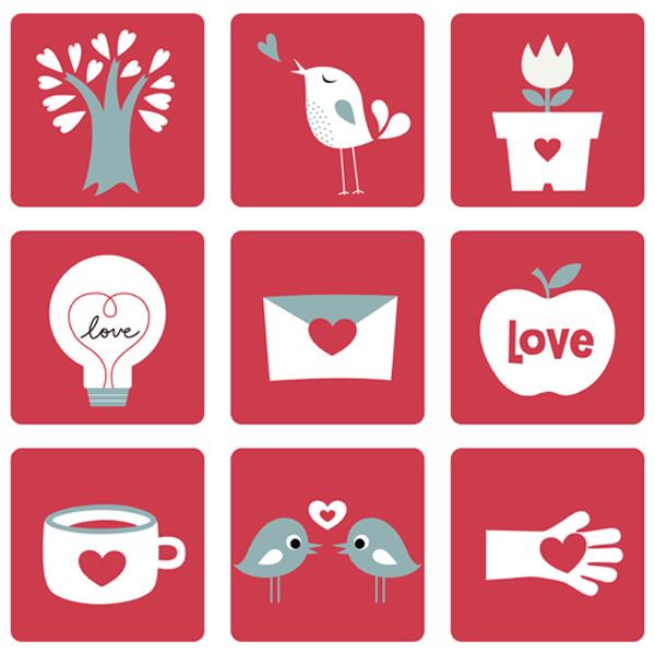 graficos e iconos de san valentin gratis