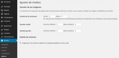 Desactivar miniaturas o thumbnails en WordPress
