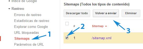 Enviar sitemaps a Google Webmasters