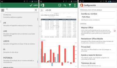 Interfaz Microsoft Office para Android gratis