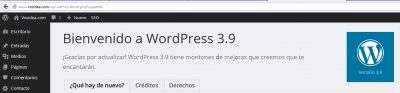Actualización WordPress 3.9