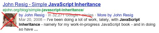 Desaparece la foto de autor de google+ de los resultados de búsqueda