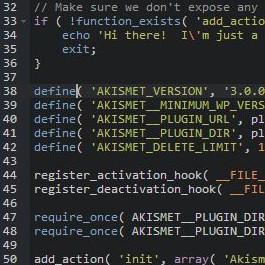 Resaltado de sintaxis en el editor de archivos WordPress
