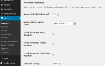 update control wordpress plugin