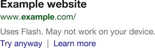Google castiga webs con Flash