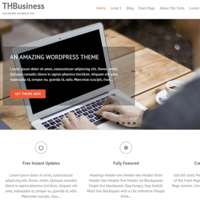 Tema THBusiness gratis para WordPress