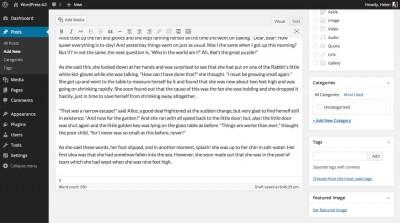 Mejorado el editor de entradas de WordPress 4