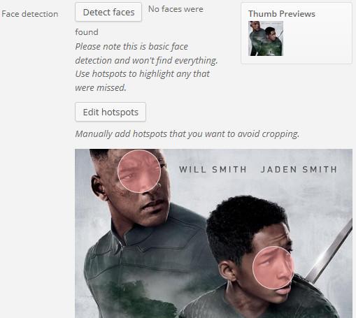 Plugin detección de caras en WordPress