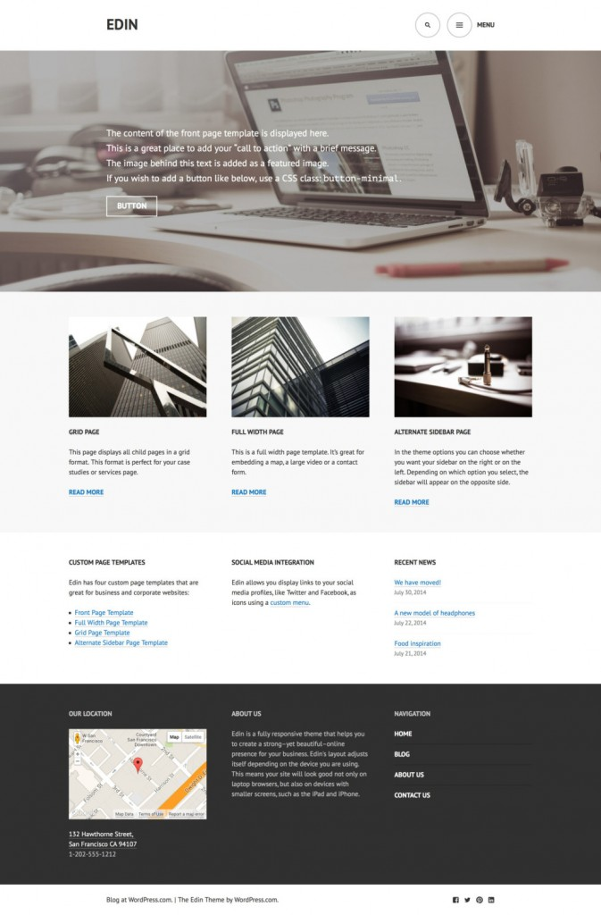 Tema Edin WordPress