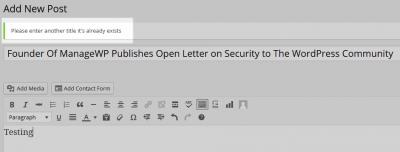 Plugin para detectar títulos duplicados en WordPress