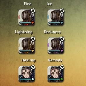 Elementos de los héroes de Terra Battle