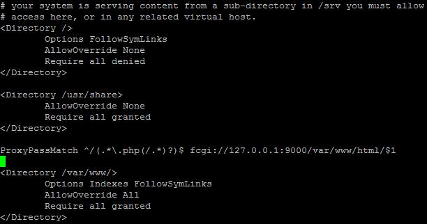 hhvm configuración con Apache