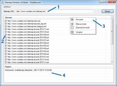 Como extraer las URLs de un sitemap con Sitemap Extractor