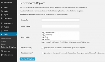 Better Search Replace para WordPress