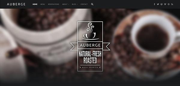Auberge, tema para restaurantes gratuito en WordPress