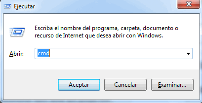 menú ejecutar windows