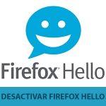 eliminar firefox hello del navegador