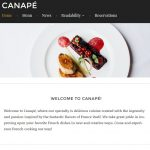 canape tema para restaurantes wordpress