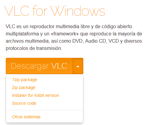 Descargar VLC para windows portable
