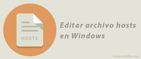 Cómo editar el archivo hosts en Windows