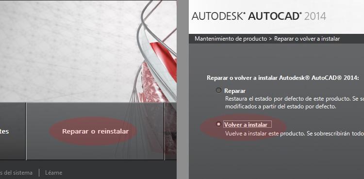 Reinstalar AutoCAD 2014