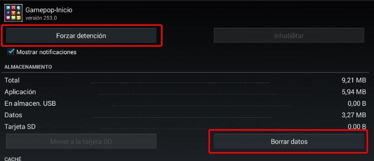 BlueStacks Gamepop-Inicio detener aplicacion