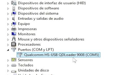 dispositivo redmi 4 puerto COM