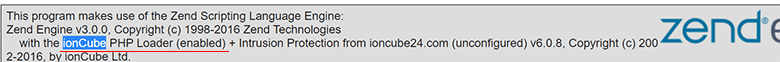ioncube loader phpinfo