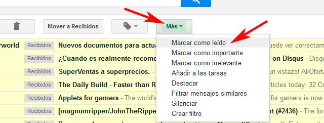 Marcar como leido Gmail