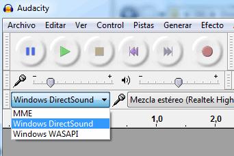 Servidor audio Audacity