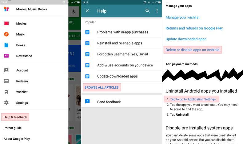 Deshabilitar aplicaciones Xiaomi MIUI