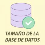 tamaño base de datos icono