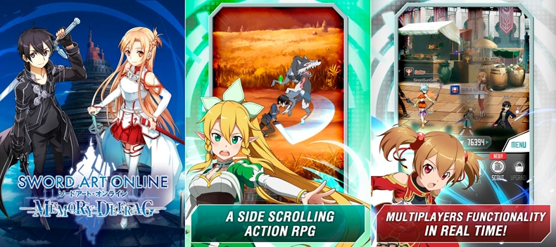 El Rpg Sword Art Online Memory Defrag Disponible Para Android