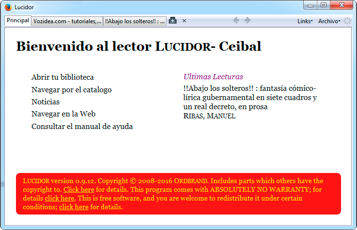 Lucidor, lector ebooks epub