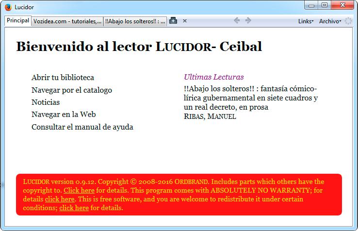 Lucidor, lector ebooks epub