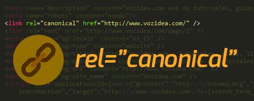 URL canónica en código HTML