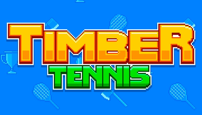 Timber Tennis, un juego retro de tenis divertido