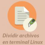 dividir archivos linux