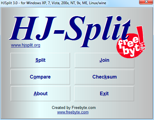 HJSplit windows