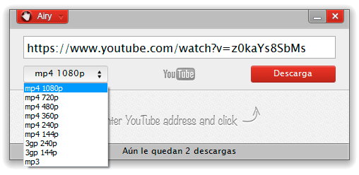 airy descargar videos youtube