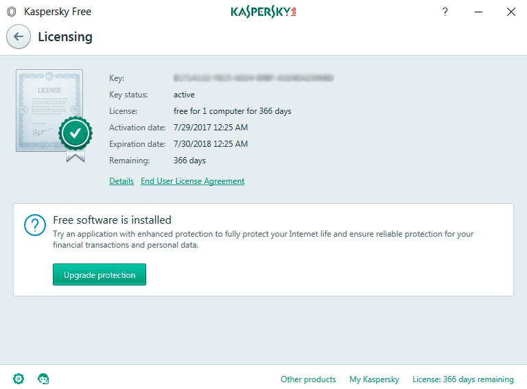 kaspersky gratis licencia