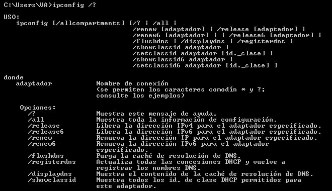 comando ipconfig windows ayuda