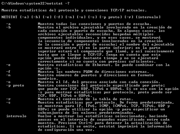 comando netstat windows